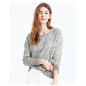 J.CREW Heather Grey Raglan Sweatshirt M